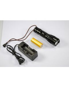 UniqueFire UF-2180 Cree XM-L T6 3-Mode 1200-Lumen Memory LED  Flashlight included battry&charger