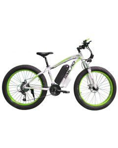 SMLRO 26inch electric mountain bicycle fat ebike 21speed snow electric bike 48V lithium battery 500W motor 4.0 fat Hybrid bicycle