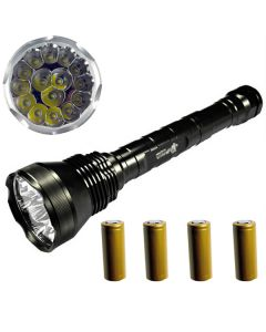 EternalFire 15T6 High Power 15*Cree XM-L T6 LED Torch 18000 Lumens 5 Modes LED Flashlight Set-Complete Set