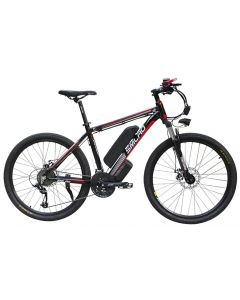 SMLRO 26inch electric mountain bicycle aluminum alloy ebike 27speed e-mtb 48V lithium battery 500W motor Hybrid bicycle