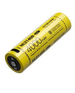 NITECORE NL2140R 4000mAh 3.6V 14.4Wh 21700 USB-C Li-ion Rechargeable battery