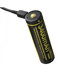 NITECORE NL1834R 3.6V High Performance Micro-USB 18650 Rechargeable battery