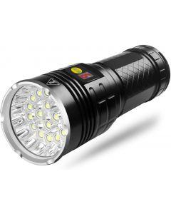 NiteBeam 18xCREE XML T6 4 Modes 15000 Lumen Rechargeable USB Type-C LED Flashlight