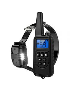 2020 NEW 800m Electric Dog Training Collar Pet Remote Control Waterproof Rechargeable with LCD Display for All Size Shock Vibration Sound