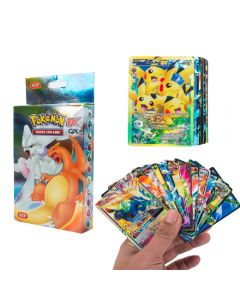 100 Assorted Pokemon Cards 20MEGA 58BASIC 20GX 1TAG TEAM 1ENERGY Booster Box Trading Cards