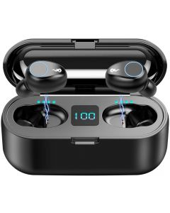F9 TWS Wireless Bluetooth 5.0 Earbuds, IPX7 Waterproof Touch Headphones in-Ear Sports Running Earphone