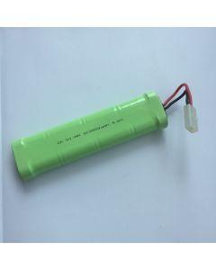 Ni-MH 2500mAh 9.6V SC*8 RC White Plug Battery Pack