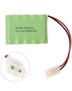 Ni-MH AA 12V 1800mAh Big White Plug Battery Pack