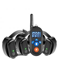 800m Electric Dog Training Collar, Dog Shock Collar w/ 3 Training Mode, Electronic Dog Shock Training Collar with Remote for Small Medium Large Dogs, 100% Waterproof