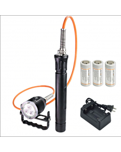 ARCHON DH30 II&WH36 II 3*CREE XM-L2 U2 3-Modes 3600-Lumes 100m LED Canister Diving Light