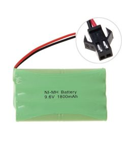 Ni-MH AA 9.6V 1800mAh large SM connector battery pack
