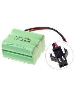Ni-MH AA 7.2V 1800mAh SM plug 6*AA Battery Pack