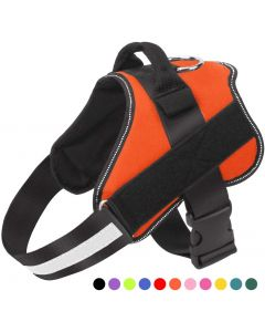 Dog Harness, No-Pull Reflective Breathable Adjustable Pet Vest with Handle for Outdoor Walking