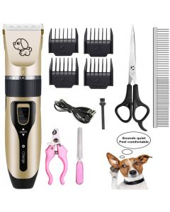 Pet Charging Electric Clippers,Pet Electric Shaver Cat and Dog Electric Hair Clipper,Dog Professional Beauty Trim Set Can Be Charged