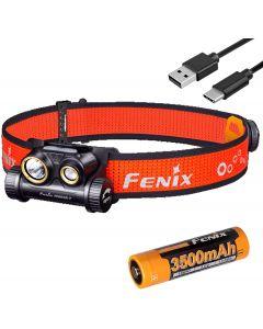 Fenix HM65R-T 1500 Lumen Dual Beam USB-C Rechargeable Headlamp, Lightweight for Trail Running with LumenTac Battery Organizer
