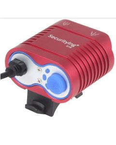 UniqueFire HD-016 2*Cree XM-L2 4 Modes 1800 Lumens LED Bike Light Bicycle Front Lights-Red