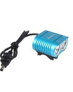 UniqueFire HD-016 2*Cree XM-L2 4 Modes 1800 Lumens LED Bike Light Bicycle Front Lights-Blue