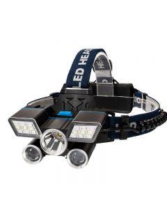 5LED headlamp USB Charging camp hike emergency light fishing outdoor equipment
