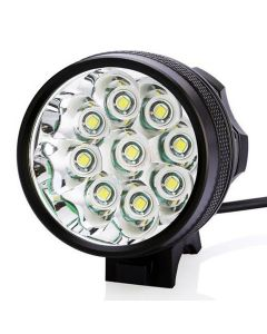 9T6 Bicycle Light 9*Cree XM-L T6 10800 Lumens 3 modes LED Bicycle Headlight Include Battery and Charger - Black