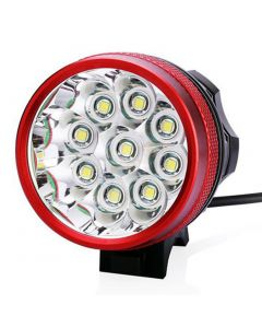 9T6 Bicycle Light 9*Cree XM-L T6 10800 Lumens 3 modes LED Bicycle Headlight Include Battery and Charger - Red