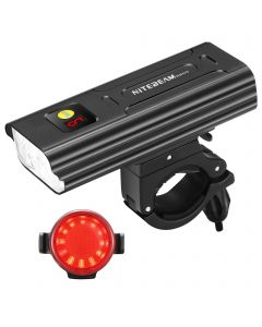 NiteBeam BR05 Bike Lights 5LED 5000 Lumens Usb Rechargeable Bike Front and Tail Light Kit