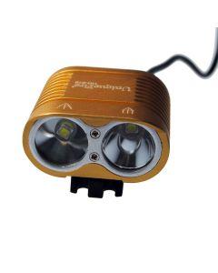 UniqueFire HD-016 2*Cree XM-L2 4 Modes 1800 Lumens LED Bike Light Bicycle Front Lights-Glod