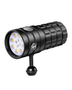 NiteBeam UV 395-400nm Diving flashlight 8 XHP50 White Light / 4x Red Light / 4x UV Light LED Diving torch Flashlight