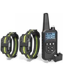 Electric Dog Training with LCD Display Collar Waterproof Rechargeable Bark-stop Remote Control Collars for Shock Vibration Sound