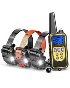 800yd Electric remote Dog Training Collar Waterproof Rechargeable LCD Display for All Size beep Shock Vibration mode