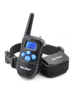 Petrainer 998D 300M Remote Electric Dog Collar Shock Vibration Rechargeable Rainproof Dog Training Collar With LCD Display