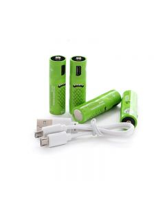 Rechargeable AA Batteries 1000mAh Battery with USB Ports High Capacity 1.2V NiMH Low Self Discharge Rechargeable Battery AA Charging by USB Cable(4 Pack+ USB Cable)