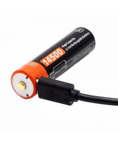 14500 750mAh 3.7V Micro USB Rechargeable Li-ion battery