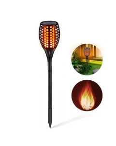 Solar Lights Upgraded, Waterproof Flickering Flames Torches Lights Outdoor Solar Spotlights Landscape Decoration Lighting Dusk to Dawn Auto On/Off Security Torch Light for Patio Driveway