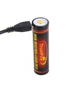 TrustFire 18650 3400mAh 3.7V Micro USB Rechargeable Li-ion battery
