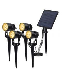 Solar Powered Spotlight Solar Panel Outdoor Lighting Landscape Yard Garden Tree Separately Lamp