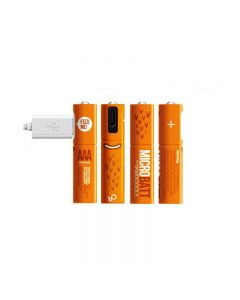 Rechargeable 1.2V 450mAh AAA Ni-MH  USB battery for Remote control mouse Quick Charging by Micro USB Cable(4 Pack+ USB Cable)