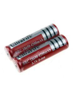 Ultrafire BRC 4200mAh 3.7V Li-ion Rechargeable 18650 Battery(1 Pair)