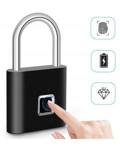 Fingerprint Lock Smart Padlock Thumbprint Door Padlocks Portable Anti-Theft Fingerprint Lock for Bag Drawer Suitcase