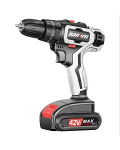 NANWEI 21V Cordless Impact Drill Rechargeable Electric Screwdriver Cordless Drill Mini Power DriverDC Lithium-Ion Battery 2-Speed Tool
