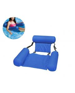 Summer Inflatable Floating Row Water Hammock Inflatable Air Mattress Swimming Pool Beach Floating Sleeping Cushion Bed Chair