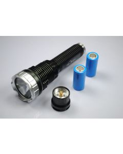 TrustFire TR-J10 Liminus SST-90 5-Mode LED Flashlight with batteries, charger and gift box